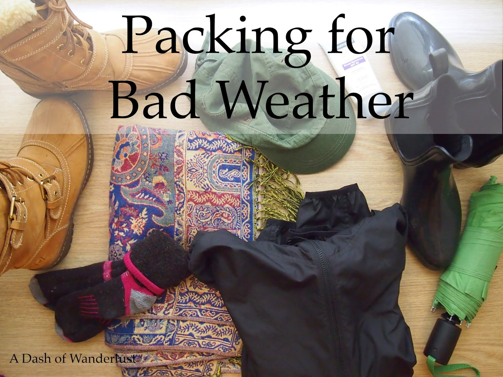 packing for bad weather