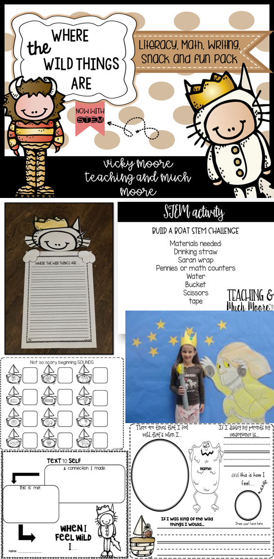 Where the Wild Things Are activity pack with STEM, throw a wild rumpus party