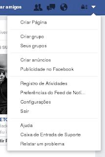 Seta para baixo - Facebook