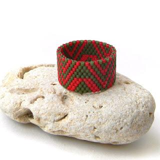 купить кольцо из бисера этнические украшения белоус анна