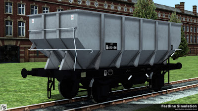 Fastline Simulation: An ex works dia. 1/141 21T coal hopper. This diagram was a direct copy of the existing LNER diagram complete with the long handbrake levers.