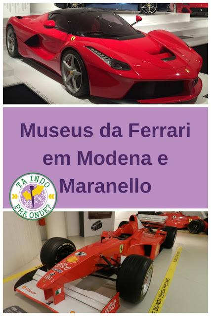 Os museus da Ferrari em Modena e Maranello
