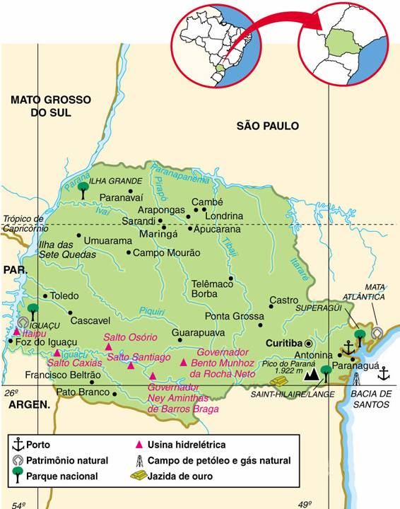 Mapa do Estado do Paraná