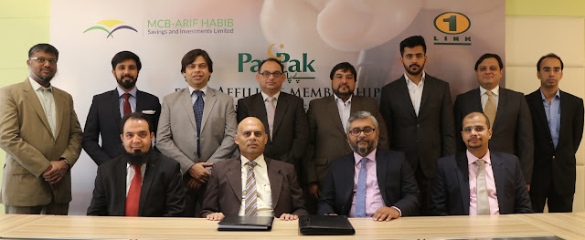 MCB Arif Habib Savings signs agreement with 1LINK to become its first PayPak Affiliate member