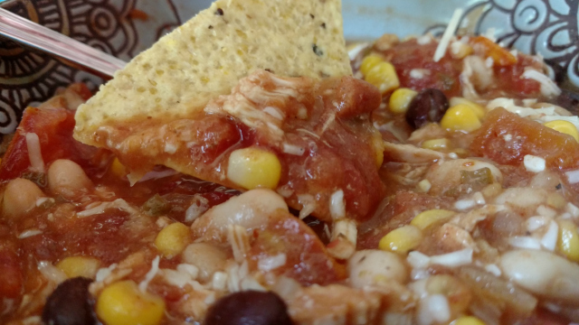 Fabulous Chili Recipe using Salsa, Chicken, and Beans
