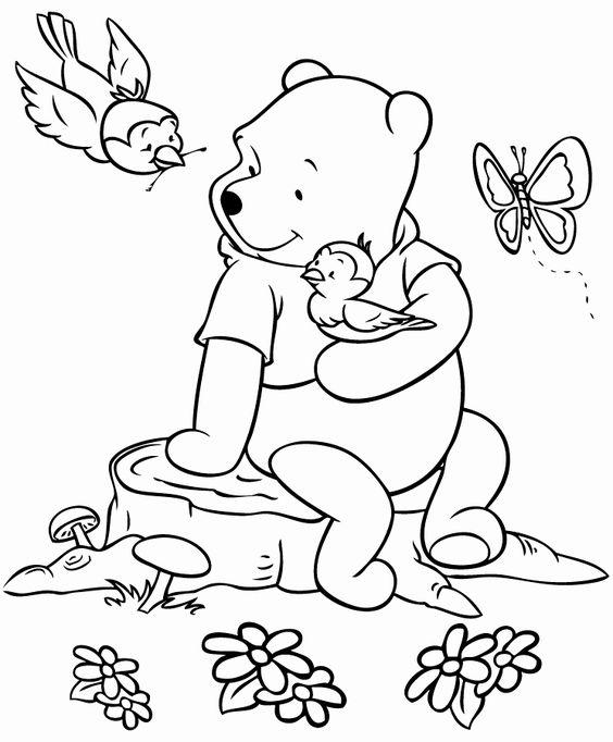 Tranh cho bé tô màu gấu Pooh 6