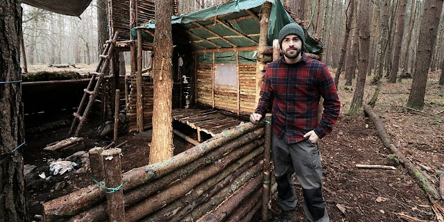 http://www.north60adventure.com/bushcraft-camp-full-super-shelter-build-from-start-to-finish/