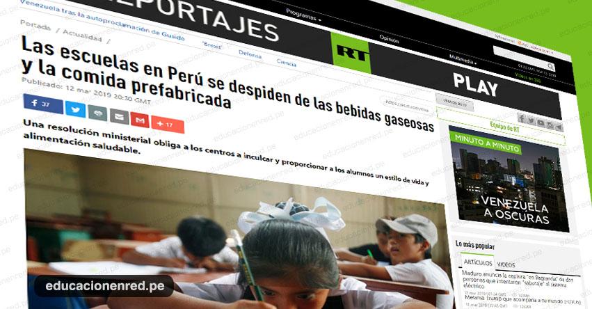 LA PRENSA INTERNACIONAL INFORMA: Las escuelas en Perú se despiden de las bebidas gaseosas y la comida prefabricada