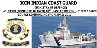 10th pass jobs in Coast guard