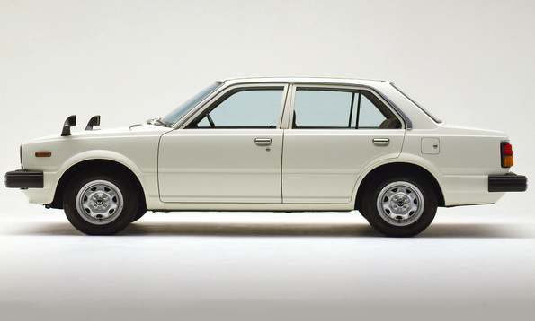 1980 Honda Civic 4-door Sedan White