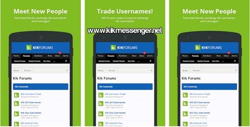 Comparte tu usuario en Forums and Usernames For Kik