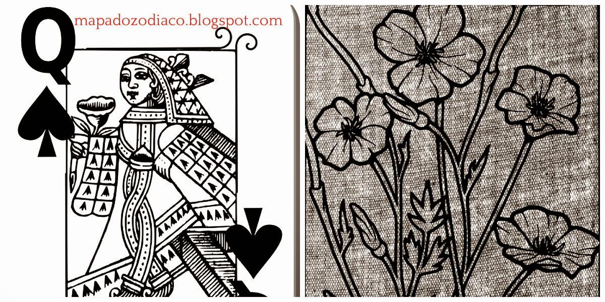 significado carta cigana lenormand flores rainha espadas