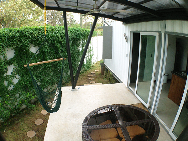 Artificial Green Roof + Deck Shipping Container Home, Costa Rica 9