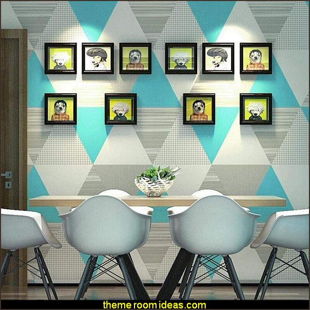 Geometric Lattice Triangle Wallpaper   Harlequin decor - diamond design  - Harlequin pattern decorating - diamond pattern decor - harlequin stencils - Geometric wall stencils - Harlequin Furniture Stencil  -  Harlequin wallpaper - Harlequin Diamond Pattern - harlequin decorations -  Harlequin pattern decor