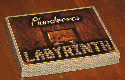 preliminary box front artwork for Plunderers of the Labyrinth