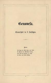 Mathilde Wesendonck: Genovefa. 1866