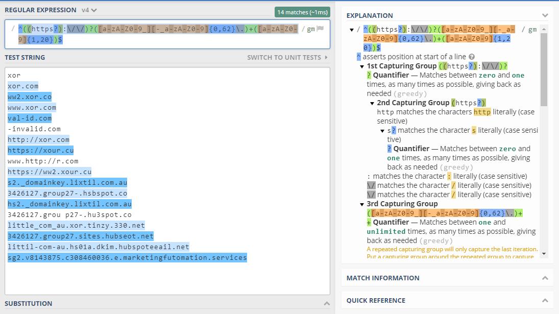 Code Samples: url-validation