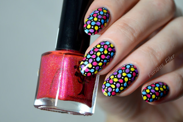 lead lighting holo stamp polka dot sheer tinted