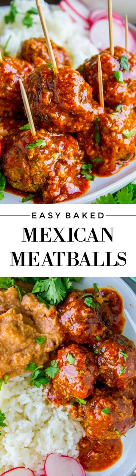 Easy Baked Mexican Meatballs