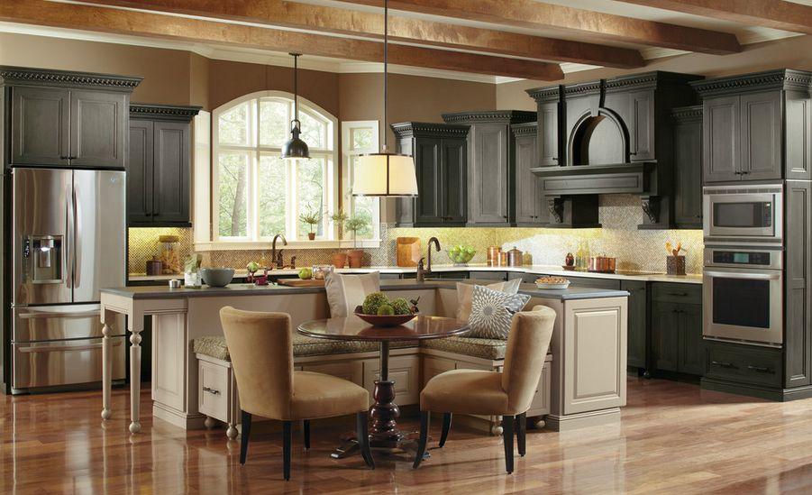 Cocina con bancos - Colores en Casa