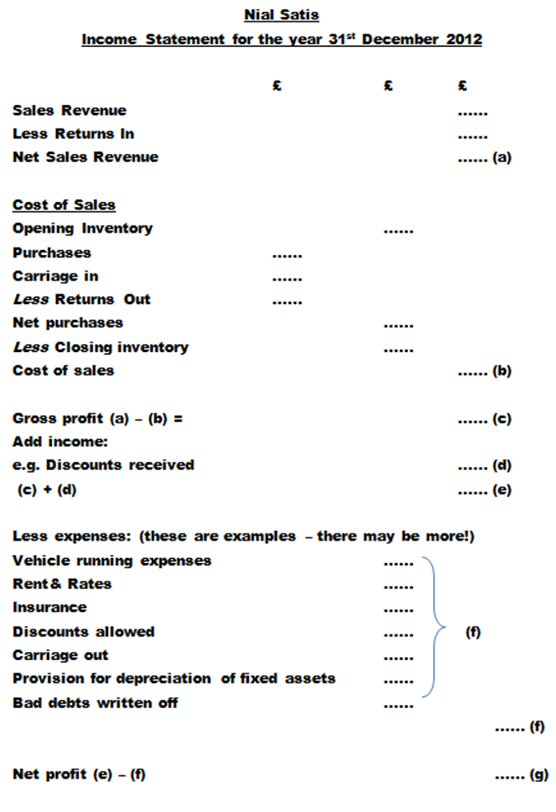 Accounting Made Easy Income Statements
