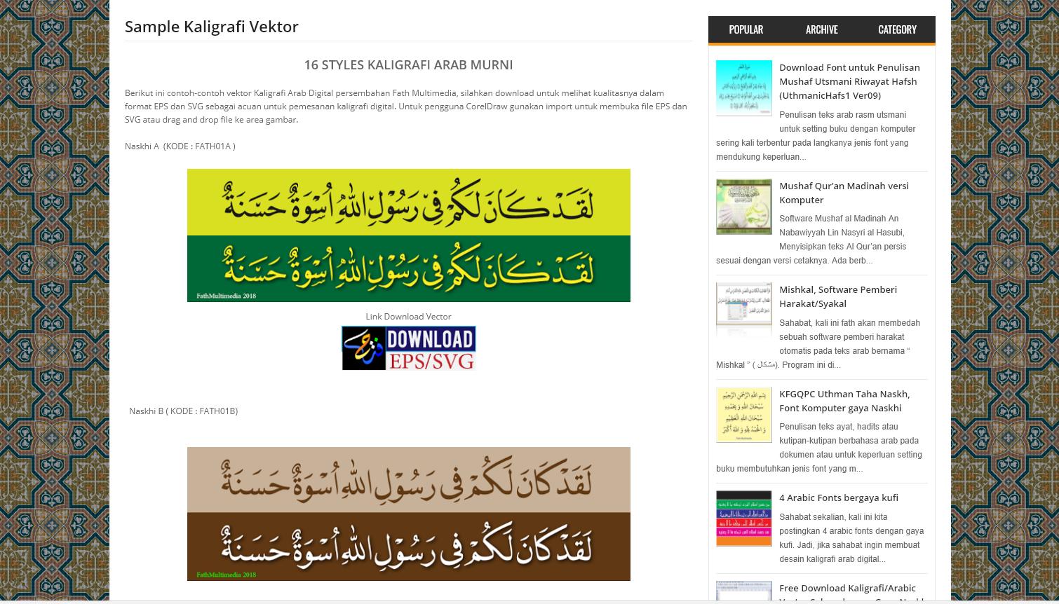 Download Vector Kaligrafi Murni Spesialis Desain Grafis