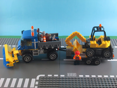 Set LEGO City 60152 Sweeper & Excavator