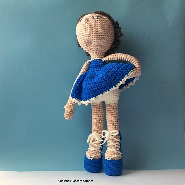 Con hilos, lanas y botones: Rosalía amigurumi