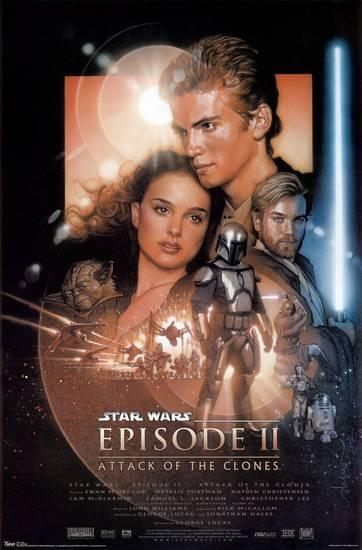 Poster de Star Wars Episodio II