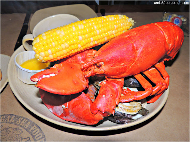 Lobster Bake en el Legal Seafood, Boston