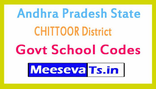 CHITTOOR District Govt School Codes in Andhra Pradesh State
