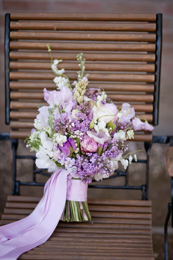 7 Kwiatów Bukiet ślubny Z Bzem