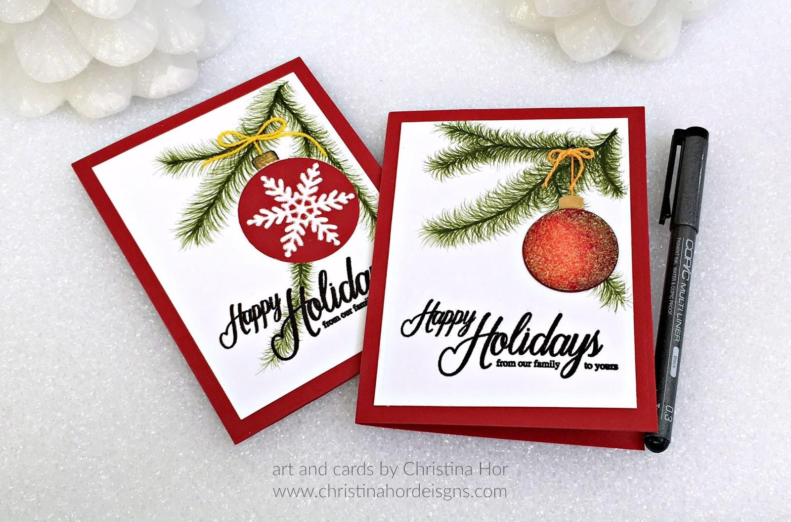 holiday cards 2016 christina hor designs
