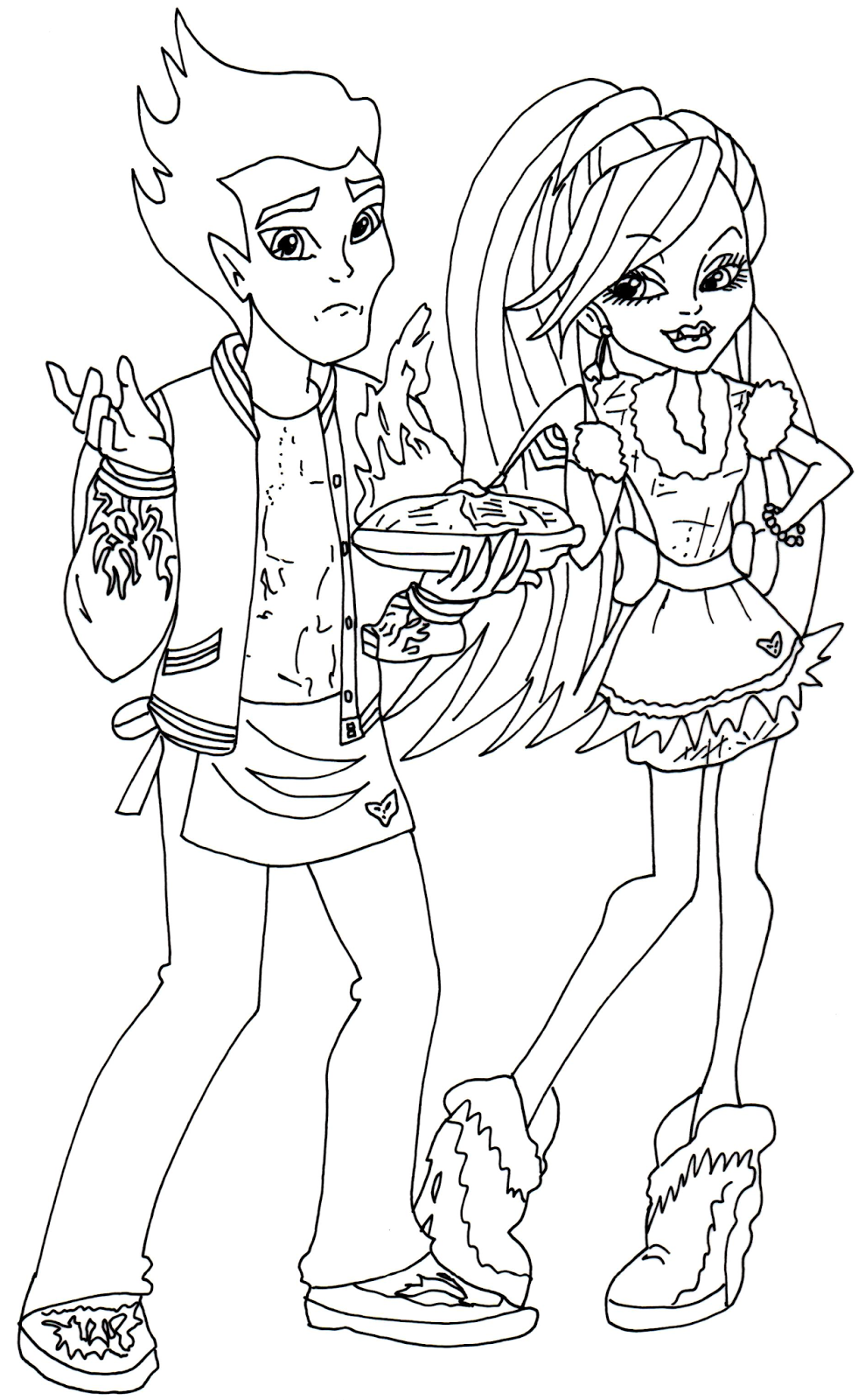 new monster high dolls 2014 coloring pages: Abbey and