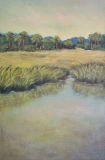 a painting of Everglades landscape