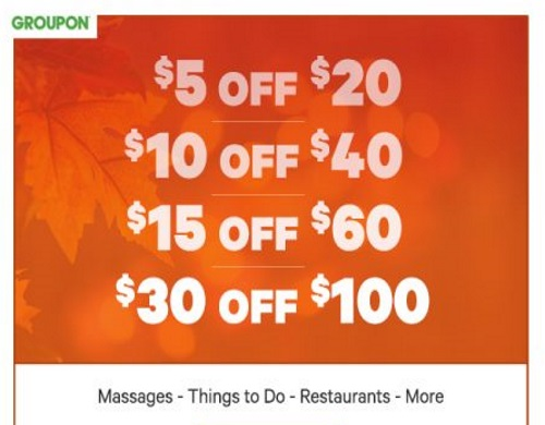 Groupon Flash Sale Up To $30 Off Local Deals Promo Code