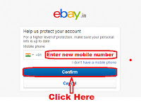 how to add mobile number in ebay