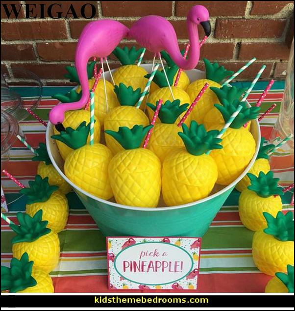 Pineapple Luau Cups for Fun Hawaiian Children's Parties
