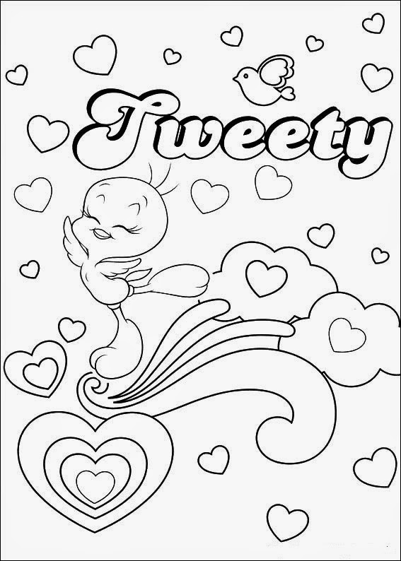 Coloring Pages Tweety Bird free