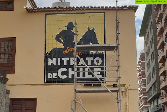 """Santa Cruz de La Palma inicia la restauración del emblemático mural de """"Nitrato de Chile"""""""