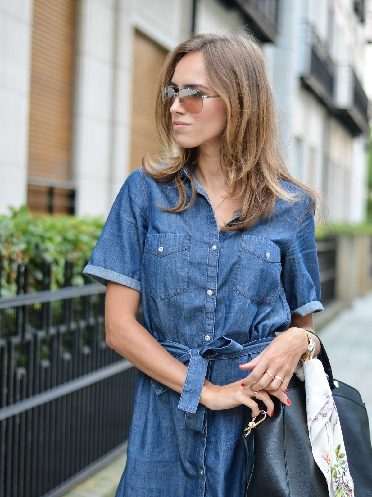 kristjaana mere lindex denim dress fall 2015 trend