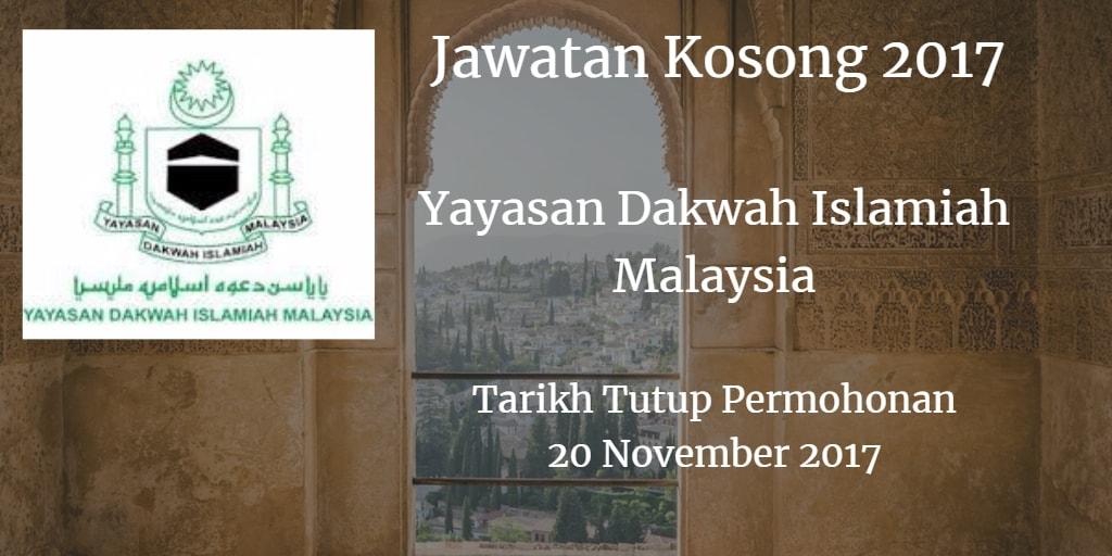 Jawatan Kosong YADIM 20 November 2017