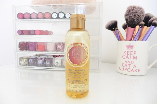 the body shop pink grapefruit beautifying oil