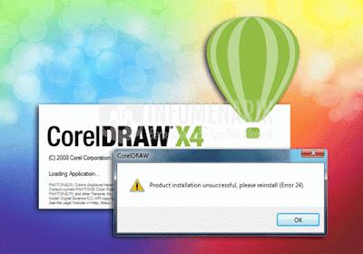 Cara Mengatasi error 24 di Corel draw X4