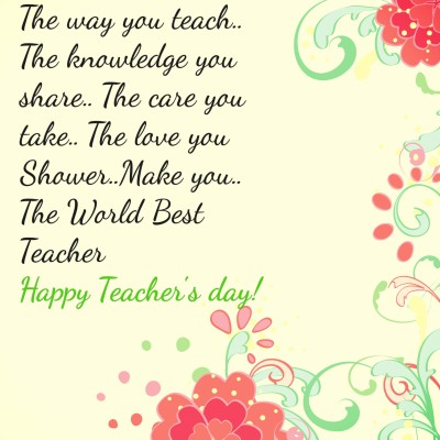 Teacher's Day Quotes Images 2