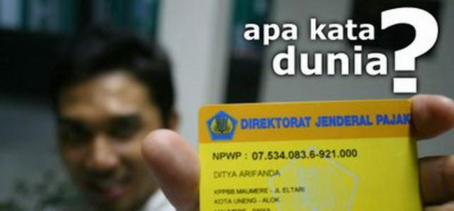 Persyaratan NPWP Wajib Pajak Cabang, Orang Pribadi Pengusaha Tertentu, Bendahara