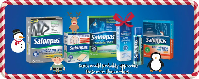salonpas no more back pain  for santa's sacroiliac