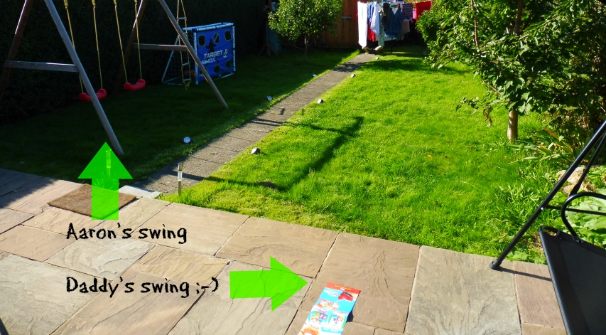 Garden swings for adult and child