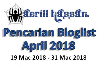 Pencarian Bloglist April 2018 by Aerillhassan.