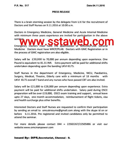SSTA: Overseas Manpower Corporation Ltd  - Brain storming session by
